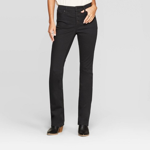 Women's High-Rise Bootcut Jeans - Universal Thread™ Black - image 1 of 4