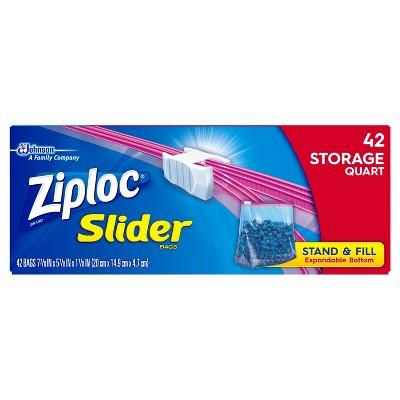 Ziploc® Slider Quart Storage Bags - 42ct