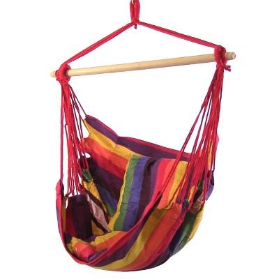 2 Hammock Chair Swings with Pillows - Sunset - Sunnydaze Decor