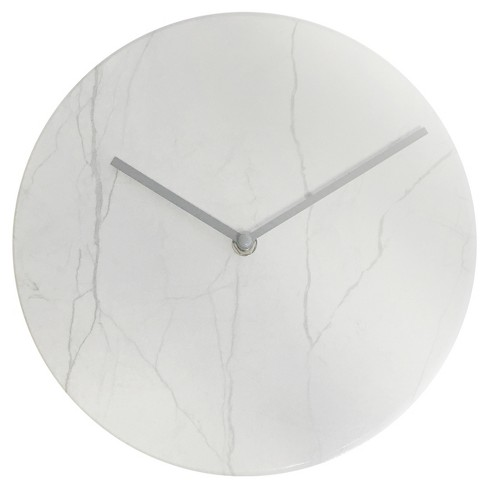 """Marble 10"""" Wall Clock White - Westclox - image 1 of 2"""