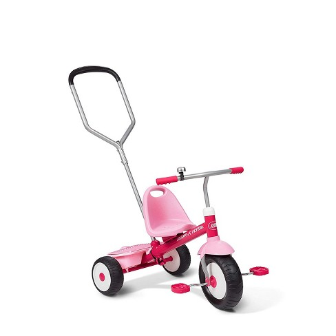 Radio Flyer Deluxe Steer and Stroll Kids Tricycle, Pink - image 1 of 4