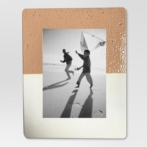 Dipped Ceramic Frame 5X7 Powder Peach And Colonnade White ...