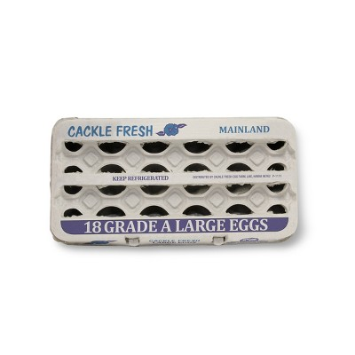 Cackle Fresh Grade A Large Eggs - 18ct