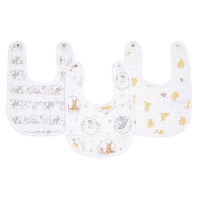 aden and anais Essentials 3pk Muslin Snap Bib Disney - Winnie and Friends