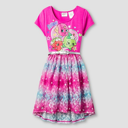 girls shopkins high low dress pink 4 5 target