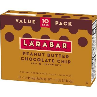 Larabar Peanut Butter Chocolate Chip Nutrition Bar - 16oz - 10ct