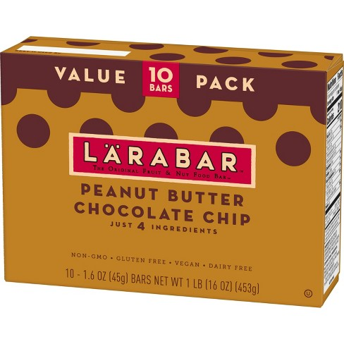 Larabar™ Peanut Butter Chocolate Chip Nutrition Bar - 16oz - 10ct - image 1 of 3