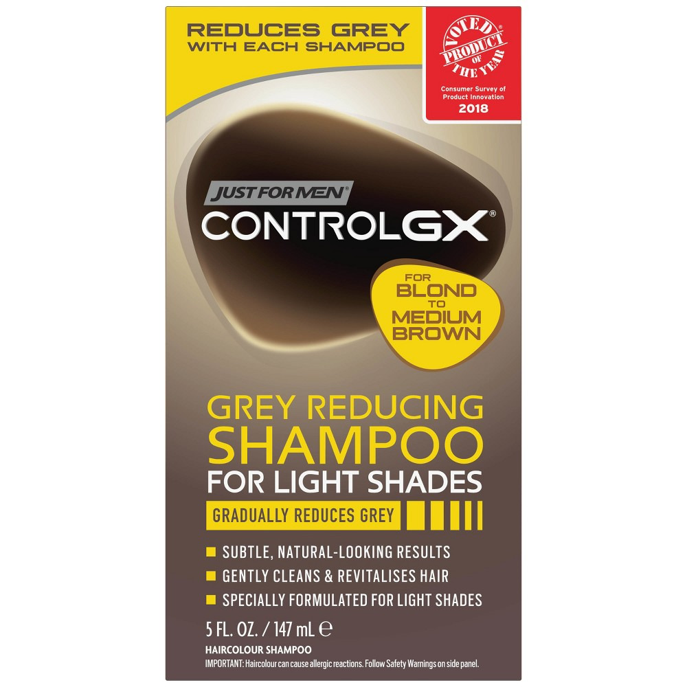 Image of Just For Men Control GX Gray Reducing Shampoo For Lighter Shades - 5 fl oz
