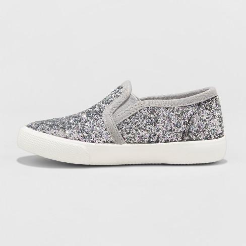 7c9bcf058cd2 Toddler Girls' Madigan Slip On Glitter Sneakers- Cat & Jack™ : Target