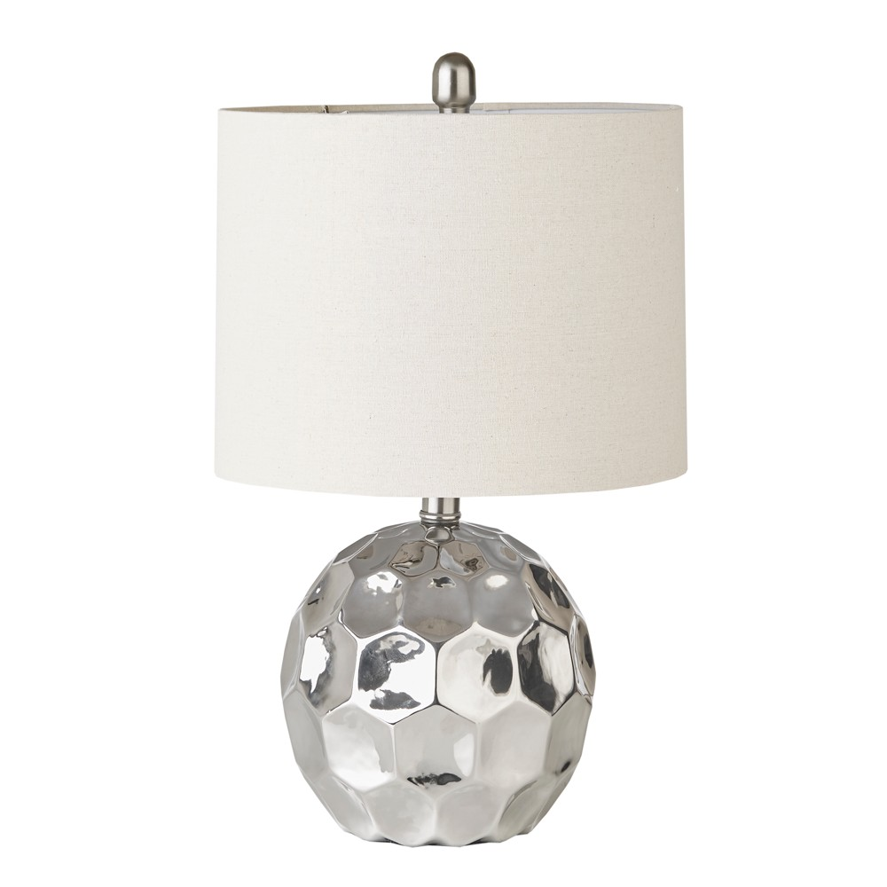 """Image of """"12"""""""" x 12"""""""" Frill Table Lamp Silver (Lamp Only)"""""""