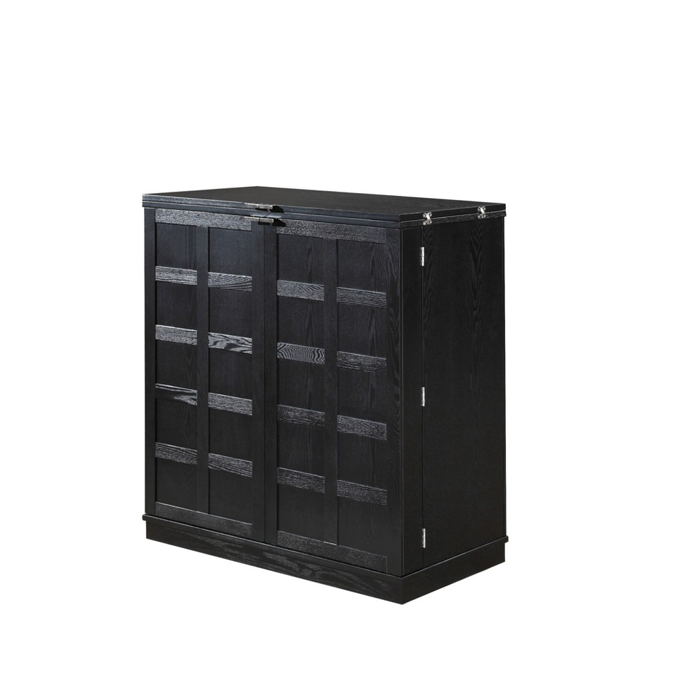 Proman Products WX17043 California Fold-A-Way Bar Cabinet, Black