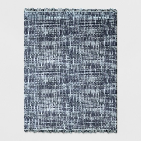 Dyed Jute Woven Rug Indigo - Threshold™ - image 1 of 3