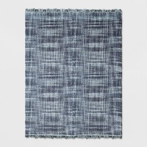 Dyed Jute Woven Rug Indigo - Threshold™ - image 1 of 3