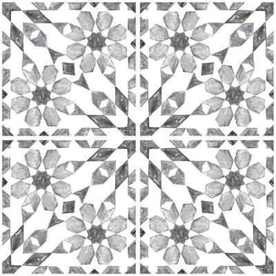 Brewster Catalan Peel & Stick Backsplash Tile Paper Gray