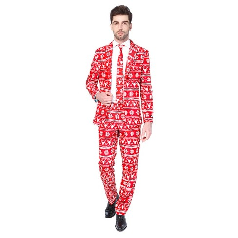 Christmas Red Nordic Suit - image 1 of 1