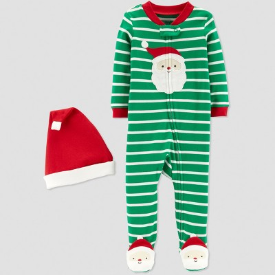 Baby Boys' Stripe Santa Sleep 'N Play - Just One You® made by carter's Green 3M