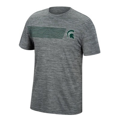 NCAA Michigan State Spartans Men's Mesh Gray T-Shirt