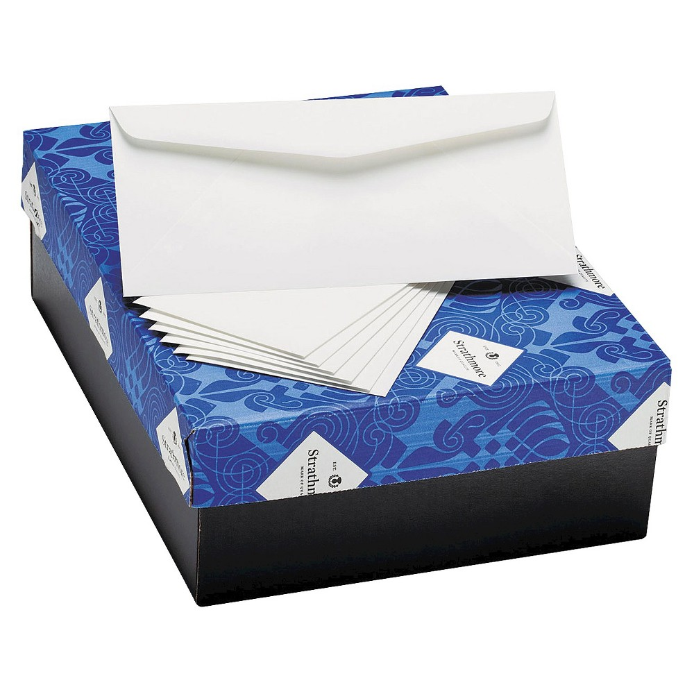 Strathmore 25% Cotton Business Envelopes, Natural White, 24 lbs, 4 1/8 x 9 1/2, 500/Box