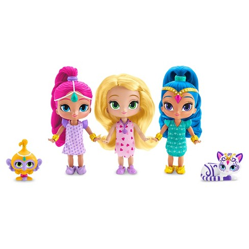Fisher-Price Shimmer And Shine Genie Sleepover Party 3 Doll Giftset - image 1 of 3