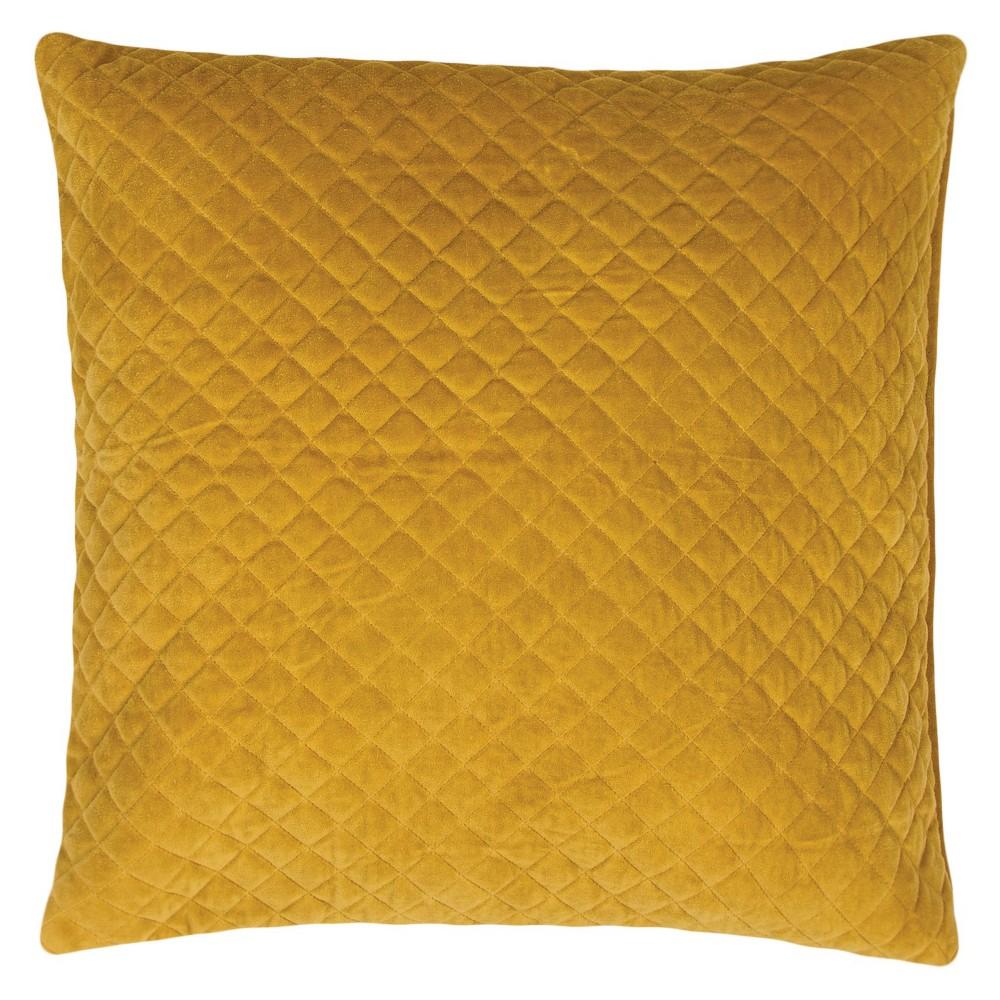 Yellow Lavish Velvet Throw Pillow (22