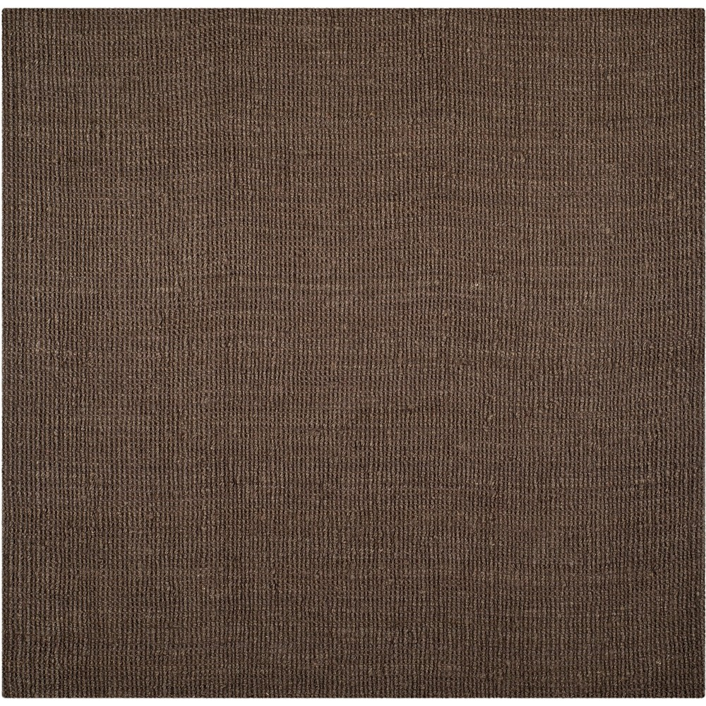 6'X6' Solid Woven Square Area Rug Brown - Safavieh