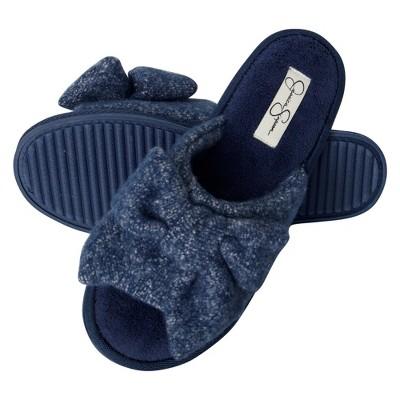 Jessica Simpson Women's Plush Open Toe Slide Slipper with Bow