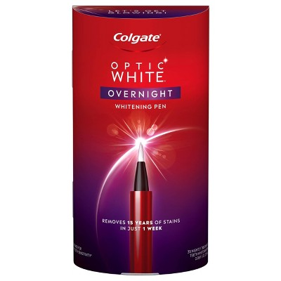 Colgate Optic White Overnight Teeth Whitening Pen with 3% Hydrogen Peroxide Gel Treatment - 0.08 fl oz