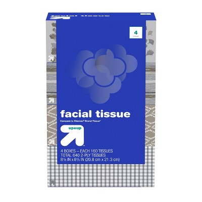 Facial Tissues - 640ct - Up&Up™ (Compare to Kleenex® Brand Tissue)
