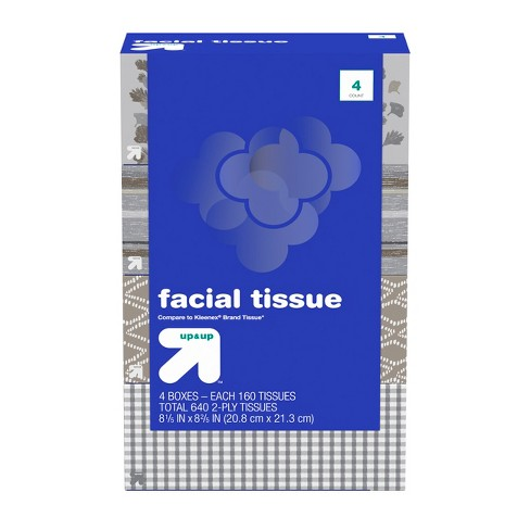 Facial Tissues - 640ct - Up&Up™ (Compare to Kleenex® Brand Tissue) - image 1 of 5