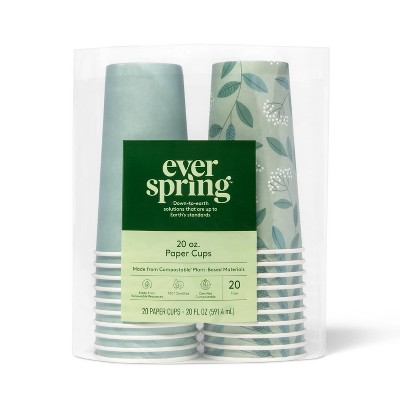 Disposable Cold Cups - 20ct - Everspring™