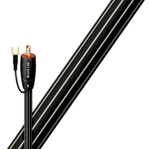 AudioQuest Black Lab RCA Male to RCA Male Subwoofer Cable - 26.25 ft. (8m) - image 1 of 1