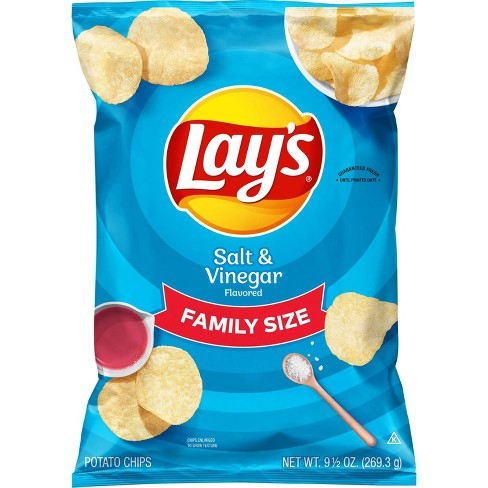 Lay's Salt & Vinegar Flavor Potato Chips - 9.5oz - image 1 of 3