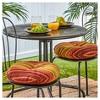 "Set of Two 15"" Kinnabari Stripe Outdoor Bistro Chair Cushions - Kensington Garden - image 2 of 3"