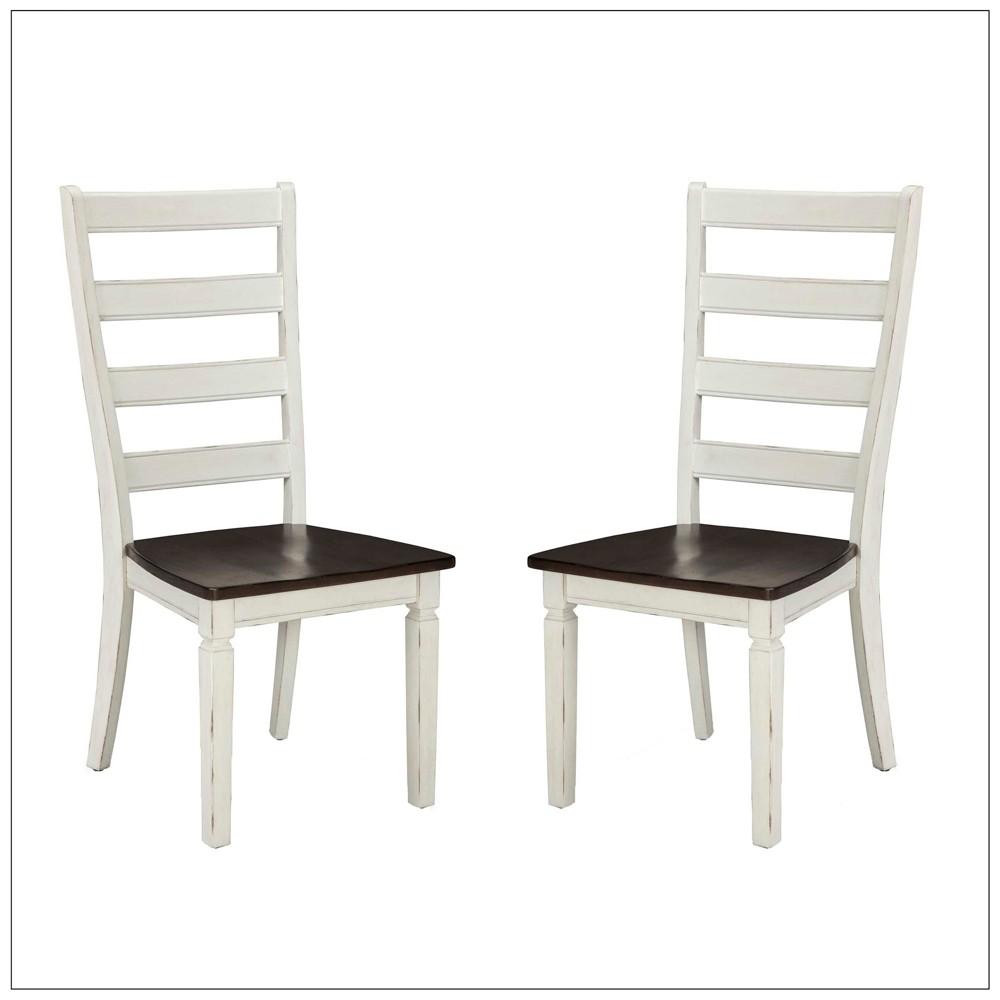 Glennwood Ladder Back Side Chair White (Set of 2) - Intercon, Eggshell