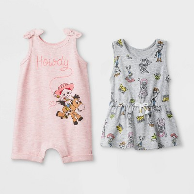 Baby Girls' Disney 2pk Toy Story Bodysuit - Newborn