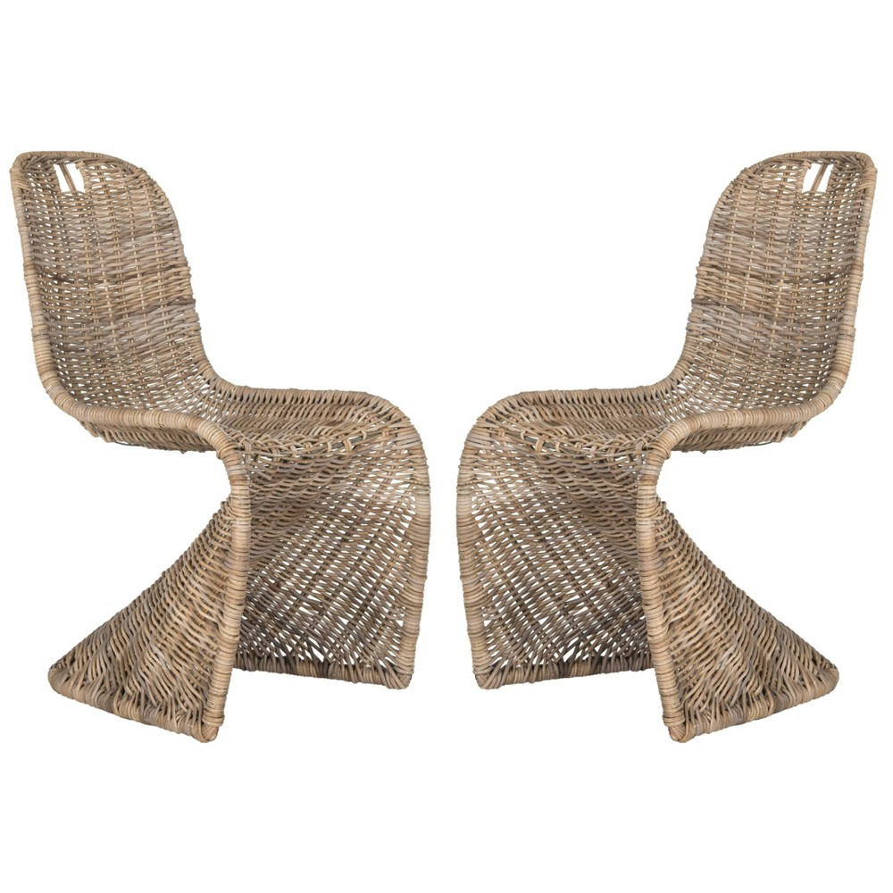 Cilombo Wicker Dining Chair - Natural (Set of 2) - Safavieh