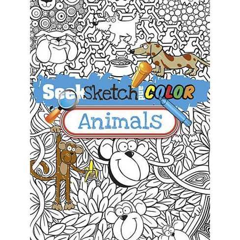 Seek, Sketch and Color Animals - (Dover Coloring Books for Children) by  Susan Shaw-Russell (Paperback) - image 1 of 1