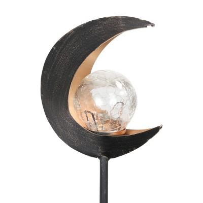 "15.55"" Solar Lunar Torch Stake Black - Exhart"
