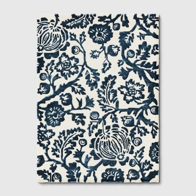 7'X10' Botanical Floral Tufted Area Rug Blue - Threshold™
