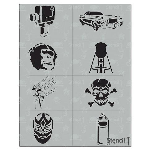 "Stencil1® Urban Multipack 8ct - Stencil 8.5"" x 11"" - image 1 of 3"