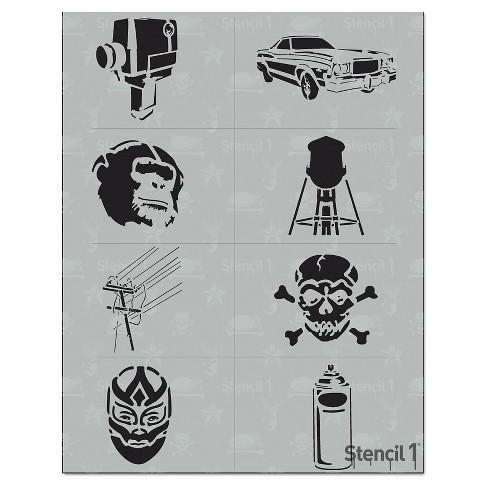 "Stencil1 Urban Multipack 8ct - Stencil 8.5"" x 11"" - image 1 of 3"