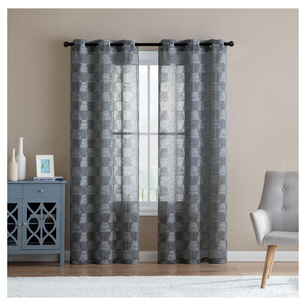 Jolie Embroidery Window Sheer Charcoal (Grey) (38