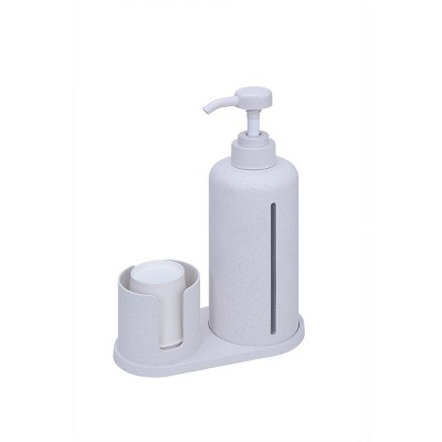 Bioplastics Mouthwash Dispenser Set White - enHome