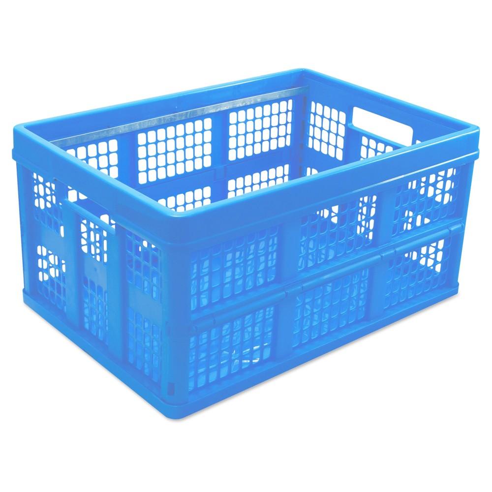 Universal Filing/Storage Tote Storage Box, Plastic, 20-1/8 x 14-5/8 x 10-3/4, Blue