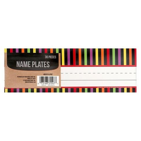 paper magic striped name plates 30 ct target