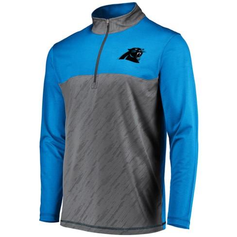 581effd37 NFL Carolina Panthers Men s Striped Geo Fuse  Gray 1 2 Zip   Target