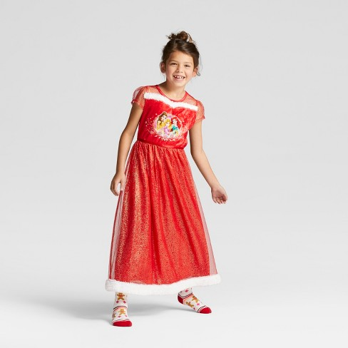 Girls\' Disney Princess Dress Up Gown - Red : Target