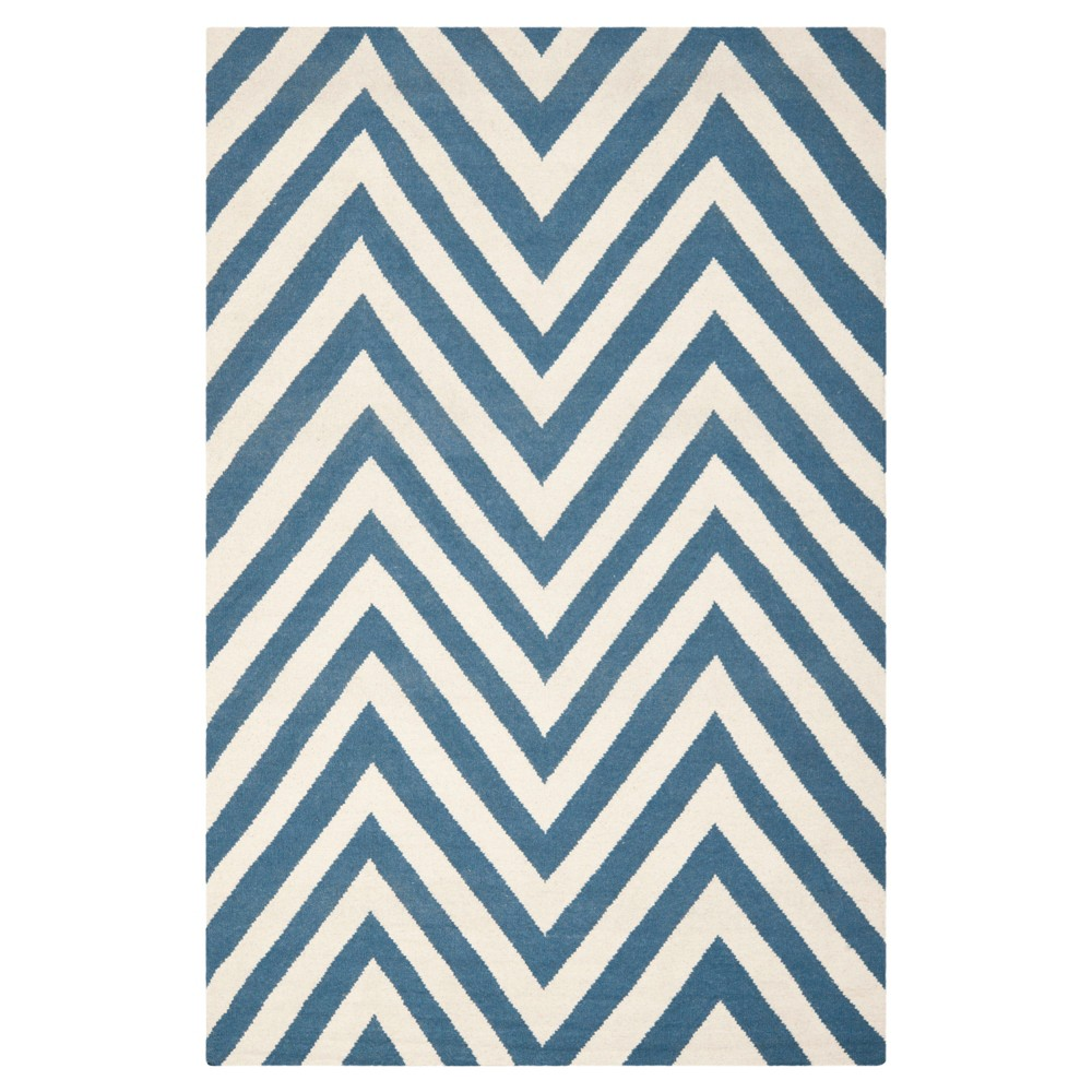 Promos Nala Dhurry Rug - Blue Ivory - (6x9) - Safavieh