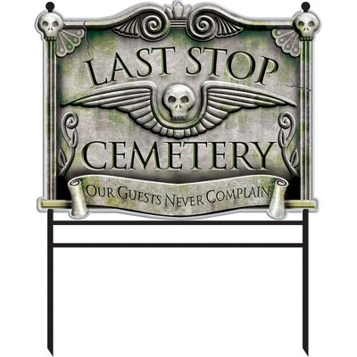 Halloween Cemetery Decorative Holiday Scene Prop