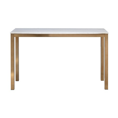 Avalon Marble Top Console Table White